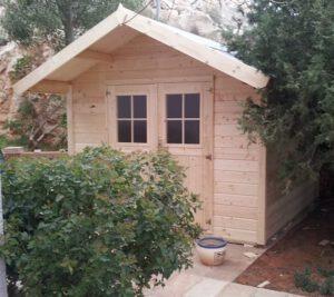 מחסן עץ - צילום חזית - צד