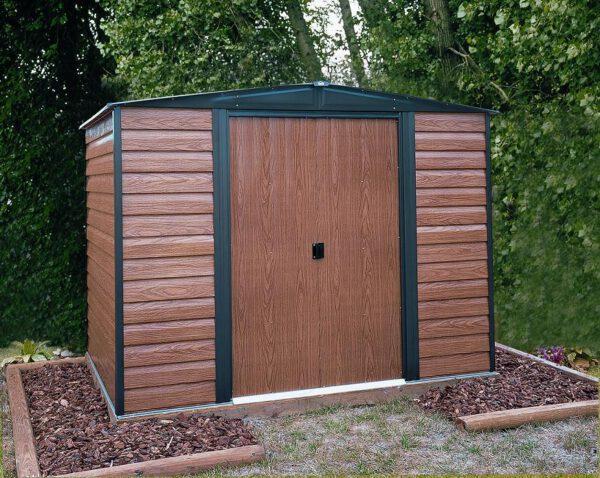 מחסן גינה ממתכת, דמוי עץ, דגם: ED65