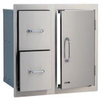 """אביזר למטבח גינה: קומבינציית דלת ו-2 מגירות ברוחב כ-96.52 ס""""מ, ''38 Door/Drawer Combo, חברת BullBBQ"""
