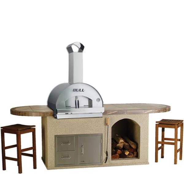 ראש טאבון למטבח גינה: דגם תנור פיצה גדול לארג' Pizza Oven Large, חברת BullBBQ