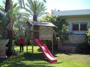 התקנת בית עץ גבוה לילדים: דגם וויסלר פארק Wistler Park, בהרצליה