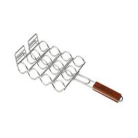 אביזר למטבח גינה: רשת לצליית נקניקיות Stainless Sausage Grilling Basket, חברת BullBBQ