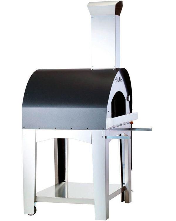 טאבון למטבח גינה: עגלת תנור פיצה גדולה במיוחד אקסטרא לארג' (טאבון) Pizza Oven Cart Extra Large XL , חברת BullBBQ