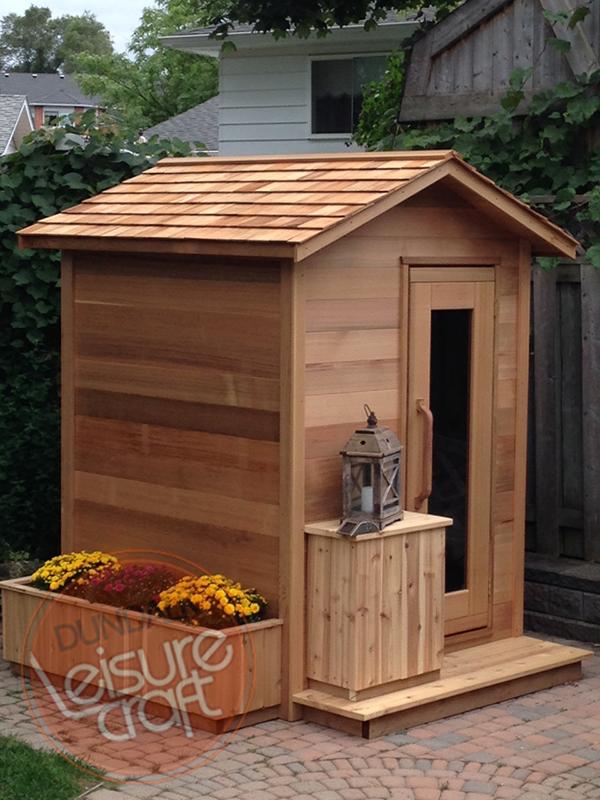 סאונה יבשה, דגם: 1*1 מטר Spruce Log Sauna, חברת Dundalk