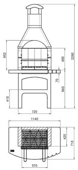דגם : טנר . גריל אבן בנוי איכותי .. מתאים במיוחד למרפסות, פנטהאוס וגגות!