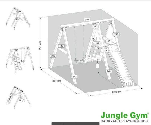 Jungle Peak - Jungle Gym מתקן שעשועים לחצר ג`נגל פיק .
