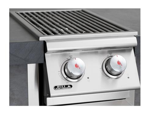 אביזר למטבח גינה: כירת גז צד כפולה מחליקה פנימה, Slide in Double side Burner, חברת BullBBQ