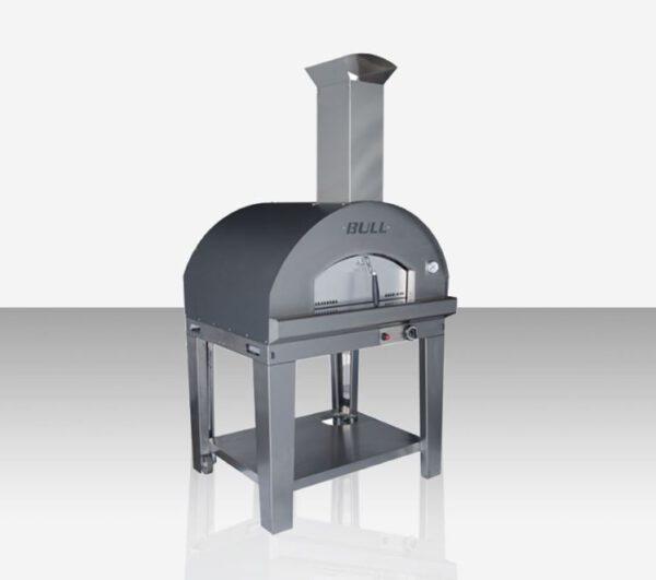 טאבון גז למטבח גינה: עגלת תנור פיצה גדול לארג' (טאבון) Gaz Pizza Oven Cart Large L , חברת BullBBQ