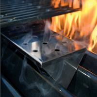 אביזר צלייה לגריל: תיבת עישון בצורת Stainless Gas Grill V-Shape Smoker Box V ,חברת BULLBBQ