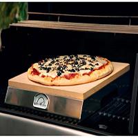 אביזר צלייה לגריל: אבן פיצה לגריל,PizzaQue Pizza Stone Grill, חברת BULLBBQ
